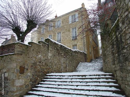 escaliers du vieux mans sous la neige de j kieffer photo libre de droits 6698 sur. Black Bedroom Furniture Sets. Home Design Ideas