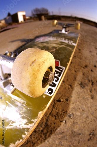 skateboarding on the world