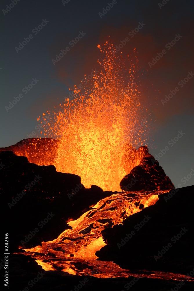 wulkanicznego wybuch piec - powiększenie