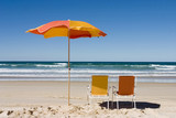 colorful beach umbrella poster
