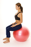 sitting on fitball poster
