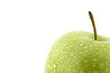 moist green apple poster