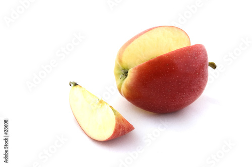 poster of apple and slice