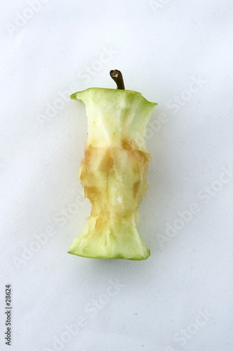 poster of an apple core