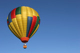 hot air balloon in flight poster