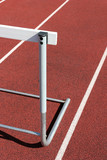 track and field - hurdle close up poster