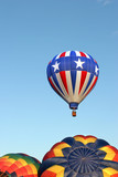 hot air balloons - stars and stripes poster