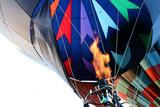 hot air balloon - firing the burner poster