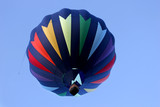 hot air balloon in rainbow colors poster
