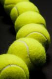 tennis balls macro 1 poster