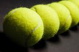 tennis balls macro 2 poster