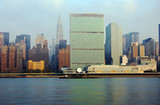 united nations building, ny poster