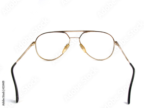 close-up of old glasses