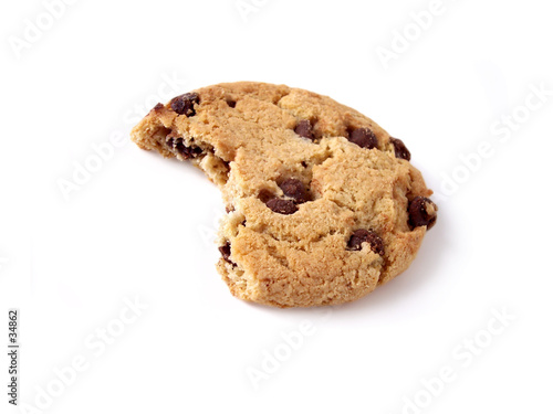 chocolate chip cookie - bite taken (path included)