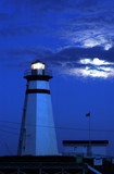 cape ray lighthouse by moonlight poster