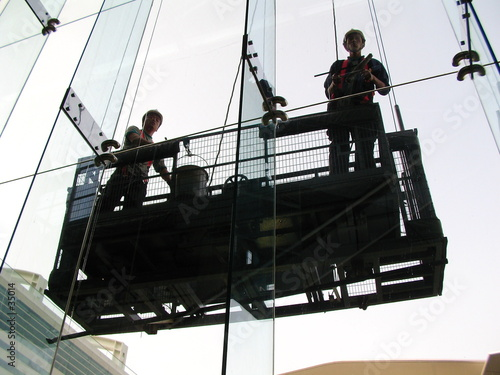 poster of window cleaners