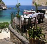 Fototapeta Restauracja nad brzegiem morza