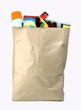 bag of groceries poster