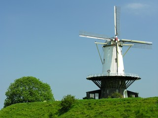 historical dutch windmill