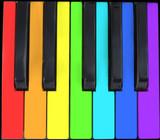 keyboard in rainbow poster