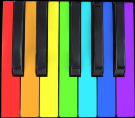 keyboard in rainbow