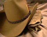 cowboy hat & gloves 1 poster