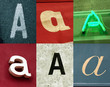 alphabet urbain, lettre a