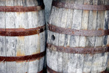 wooden barrels (two) poster