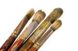 four artist brushes poster