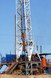 drilling rig poster