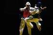 Leinwandbild Motiv combat  de taekwondo