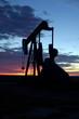 oil well at sunrise