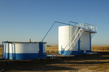 oil storage tanks poster