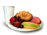 breakfast platter with cup poster