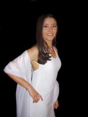 girl in evening dress