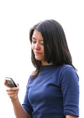 girl sending sms