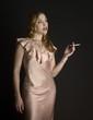 retro image of smoking woman