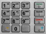 atm keypad macro poster
