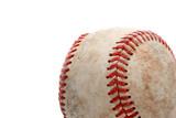baseball close up over white poster