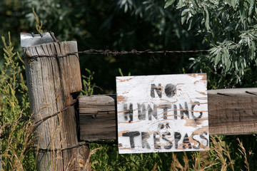 no hunting or trespassing