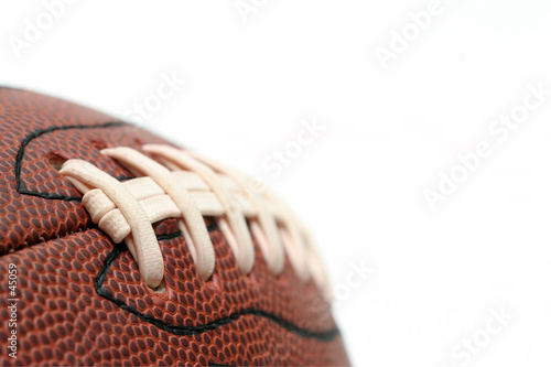 american football macro over white