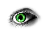 abstract green eye poster