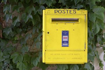 yellow french post box