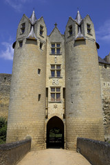 castle walls montreuil-bellay loire valley france