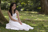 asian bride outdoors 1 poster