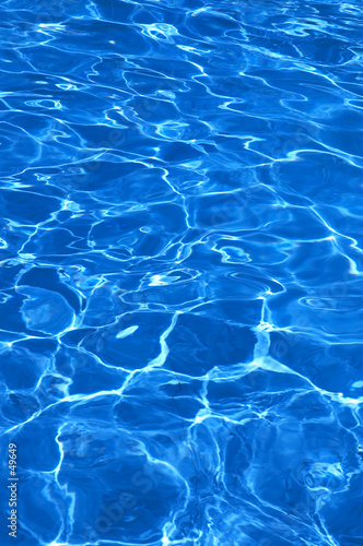 pure blue water in pool