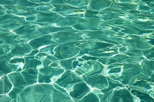 Leinwanddruck Bild pure water in pool