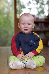 little baby boy sitting