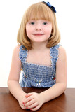 beautiful 4 year old girl portrait poster