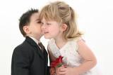 boy giving girl a kiss poster